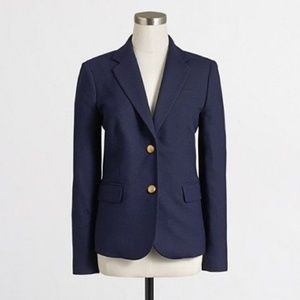 J. Crew navy blue wool keating schoolboy blazer